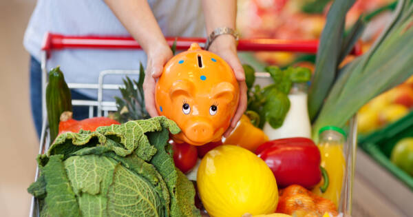 Adding Piggy Bank to Grocery Cart