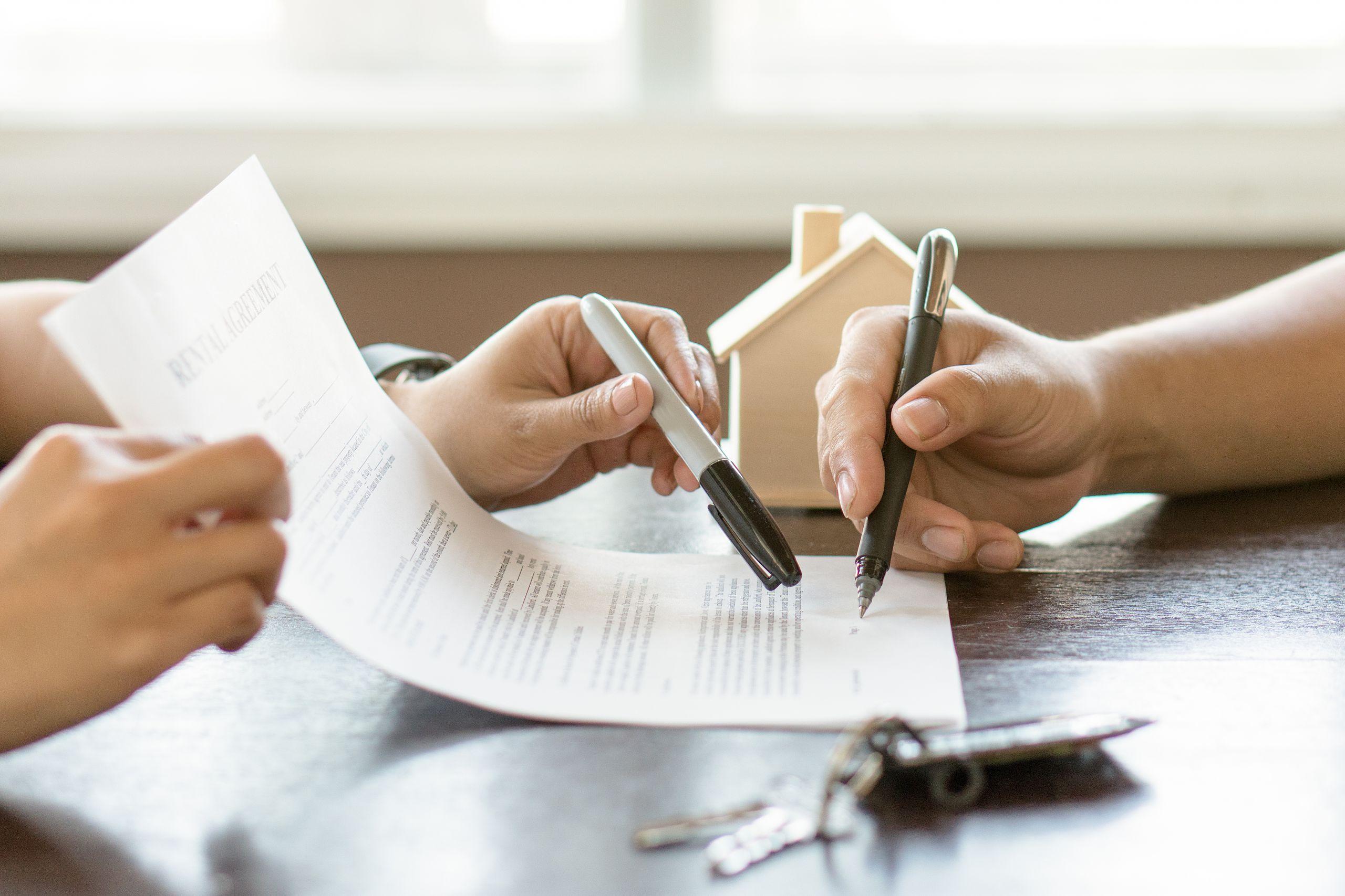 Signing Mortgage Renewal Agreement