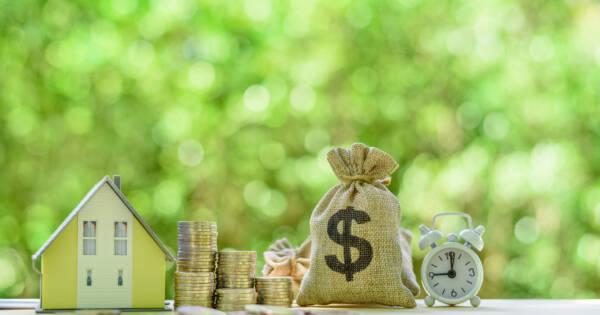 Mini Home, Coins, Bag of Money, & Alarm Clock