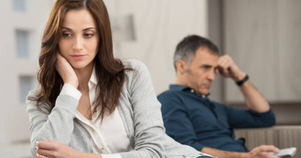 Separated Couple in Deep Thought About Tax Implications
