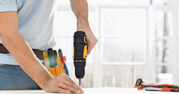 Construction Worker Making Home Improvements