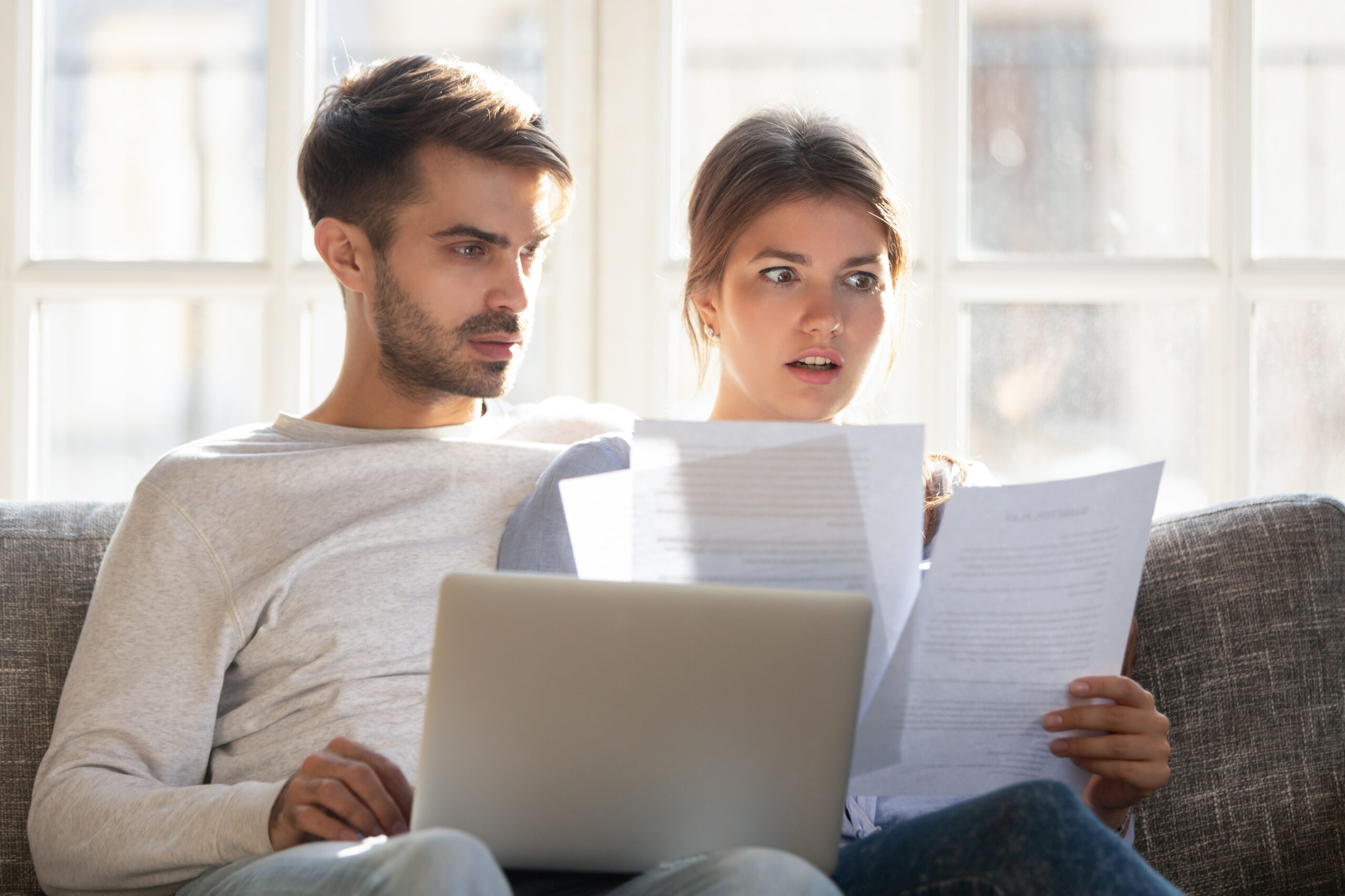 Couple Shocked by Finance Statement