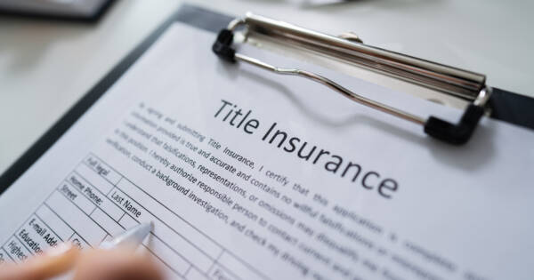 Clip Board with Title Insurance Application