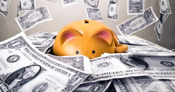 Saving Money in a Piggy Bank